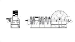 Odwadniacz kołowo-wstęgowy, dwufrakcyjny.